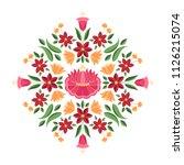 hungarian folk pattern vector....   Shutterstock .eps vector #1126215074