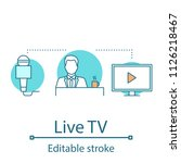 live tv concept icon. news... | Shutterstock .eps vector #1126218467