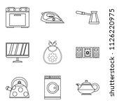permanent residence icons set....   Shutterstock . vector #1126220975