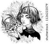 vector illustration. demon.... | Shutterstock .eps vector #1126222079