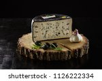 piece of mold cheese  black... | Shutterstock . vector #1126222334