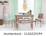 decorative dining table and...   Shutterstock . vector #1126224194