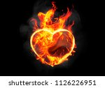 burning heart shape with... | Shutterstock . vector #1126226951