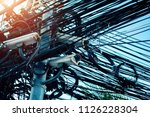 security cctv camera is... | Shutterstock . vector #1126228304