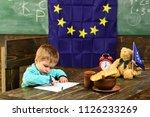 knowledge concept. child draw... | Shutterstock . vector #1126233269
