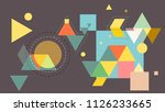 colorful abstract pattern using ... | Shutterstock .eps vector #1126233665