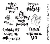set of phrases for summer and... | Shutterstock .eps vector #1126244741
