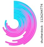 holographic gradient circle ... | Shutterstock .eps vector #1126244774