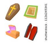 coffin icon set. cartoon set of ...   Shutterstock . vector #1126245341