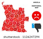 sorrow angola map collage of... | Shutterstock .eps vector #1126247294
