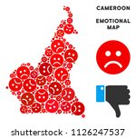 sorrow african cameroon map... | Shutterstock .eps vector #1126247537