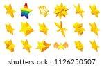 stars icon set. cartoon set of...