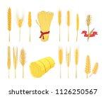 wheat icon set. cartoon set of... | Shutterstock . vector #1126250567