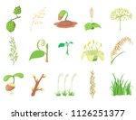 plant icon set. cartoon set of... | Shutterstock . vector #1126251377
