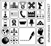 set of 22 business high quality ... | Shutterstock .eps vector #1126254617