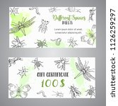 bugs insects hand drawn gift... | Shutterstock .eps vector #1126259297