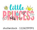little princess lettering with... | Shutterstock . vector #1126259591