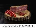 smoked meat and cherry tomatoes ... | Shutterstock . vector #1126259714