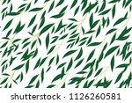 hand drawn eucalyptus seamless... | Shutterstock .eps vector #1126260581