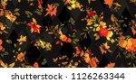 wide seamless background floral ... | Shutterstock .eps vector #1126263344