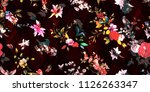 wide seamless background floral ... | Shutterstock .eps vector #1126263347
