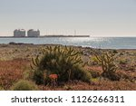 gas station area in the port of ... | Shutterstock . vector #1126266311