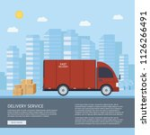 logistics and delivery service... | Shutterstock .eps vector #1126266491