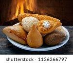 mixed brazilian snack  | Shutterstock . vector #1126266797