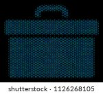 halftone toolbox mosaic icon of ... | Shutterstock .eps vector #1126268105