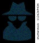 halftone spy composition icon... | Shutterstock .eps vector #1126269434