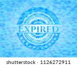 expired light blue emblem with... | Shutterstock .eps vector #1126272911