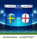 sweden vs england scoreboard... | Shutterstock .eps vector #1126275527