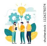 vector illustration  online... | Shutterstock .eps vector #1126278374
