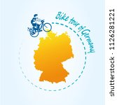 man riding bicycle around of... | Shutterstock .eps vector #1126281221