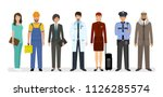 employee and workers characters ... | Shutterstock .eps vector #1126285574