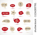 vector stickers  price tag ...   Shutterstock .eps vector #1126285781