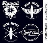 set of vintage surfing graphics ...   Shutterstock .eps vector #1126289249
