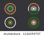india national symbol painted...   Shutterstock .eps vector #1126293737
