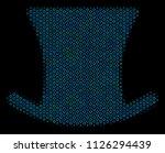halftone gentleman hat collage...   Shutterstock .eps vector #1126294439