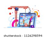 young team of web developers... | Shutterstock .eps vector #1126298594