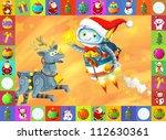 the happy christmas scene  ... | Shutterstock . vector #112630361