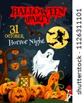 halloween holiday poster for...   Shutterstock .eps vector #1126311101
