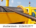 wire rope sling or cable sling... | Shutterstock . vector #1126312577