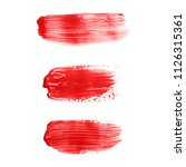 beautiful textured red strokes... | Shutterstock . vector #1126315361