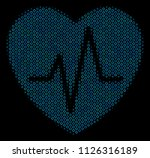 halftone cardiology composition ... | Shutterstock .eps vector #1126316189