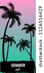 summer time palm tree banner... | Shutterstock .eps vector #1126316429
