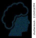 halftone blonde profile mosaic... | Shutterstock .eps vector #1126316594