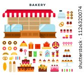 confectionery counter and... | Shutterstock .eps vector #1126320074