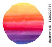 colorful watercolor stains... | Shutterstock . vector #1126320734