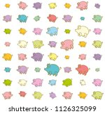 piglets large and small funny... | Shutterstock .eps vector #1126325099